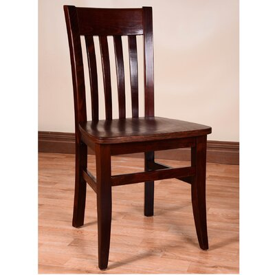 Besse Solid Wood Dining Chair Finish: Medium Oak