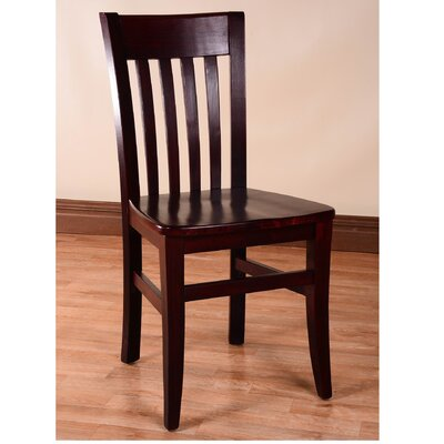 Baldemar Solid Wood Dining Chair Finish: Dark Mahogany