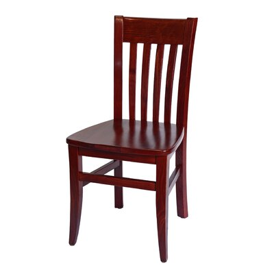 Baldemar Side Chair Finish: Mahogany