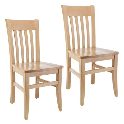 Besse Side Chair (Set of 2) Finish: Natural