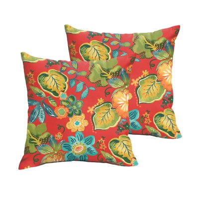 Broad Brook Outdoor Throw Pillow Size: 18 H x 18 W, Color: Red / Green / Blue