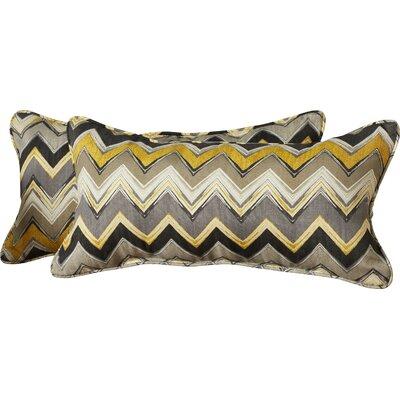 Diaundra Chevron Outdoor Lumbar Pillow Size: 12 x 24