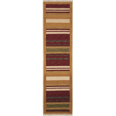 Gammons Hand-Woven Wool Brown Area Rug Rug Size: 510 x 810