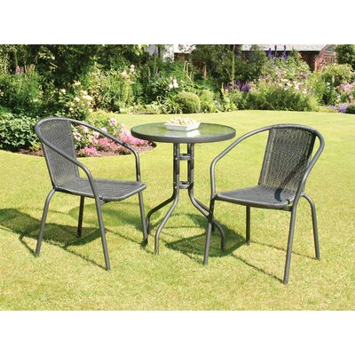 Overshores 3 Piece Dining Set Finish: Black