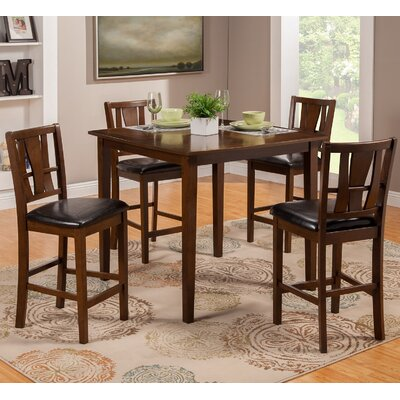 Geissler 5 Piece Counter Height Dining Set
