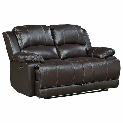 Garlock Leather Power Motion Reclining Loveseat Recliner Mechansim: Manual