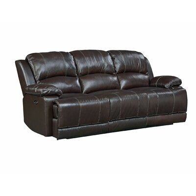 Garlock Leather Power Motion Reclining Sofa Recliner Mechansim: Power