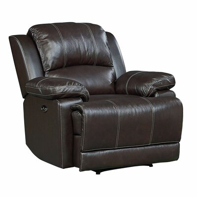 Garlock Leather Power Recliner Recliner Mechansim: Manual