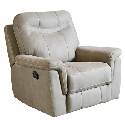 Garretson Manual Rocker Recliner Upholstery: Cream