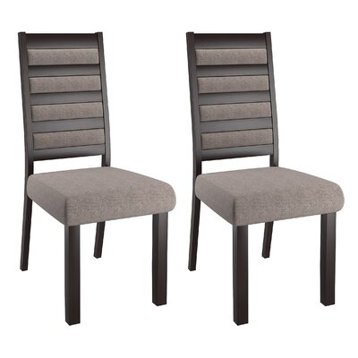 Burgess Side Chair Upholstery: Back/Grey