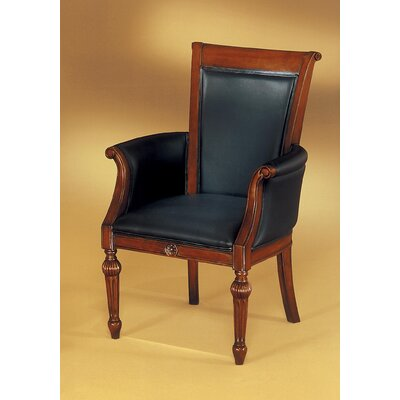 Buckeye Leather Guest Chair Leather Color: Black