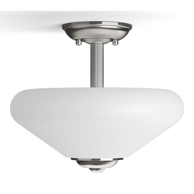 Garrick 2-Light Semi-Flush Mount Finish: Brushed Nickel