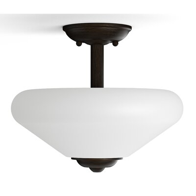 Garrick 2-Light Semi-Flush Mount Finish: Oiled Bronze