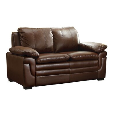 Chan Loveseat Upholstery: Brown