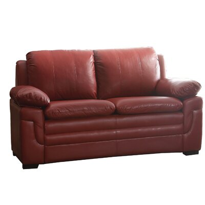 Chan Loveseat Upholstery: Red