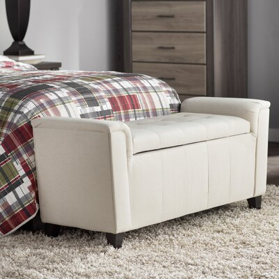 DuClaw Fabric Storage Ottoman Upholstery: Beige