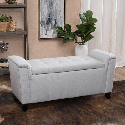 DuClaw Fabric Storage Ottoman Upholstery: Light Grey