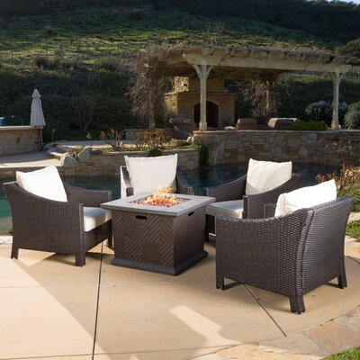 Aqueduct 5 Piece Conversation Set with Fire Pit