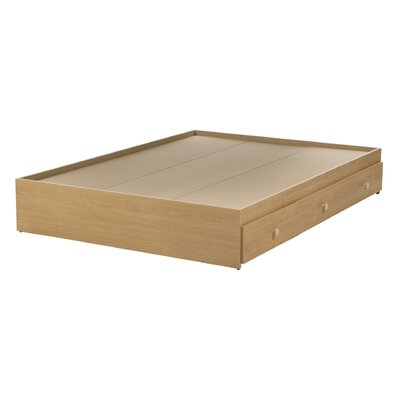 Brook Hollow Full/Double Storage Platform Bed Color: Natural Maple