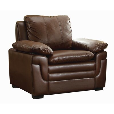 Chan Club Chair Upholstery: Brown