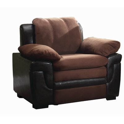Chan Club Chair Upholstery Color: Mocha Suede