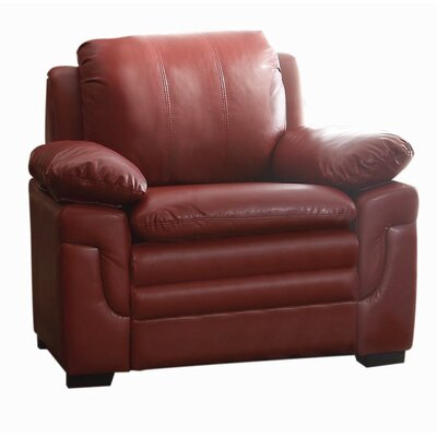 Chan Club Chair Upholstery Color: Red