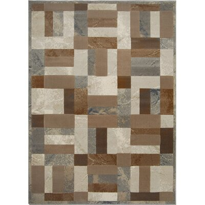 Gannaway Gray/Brown Area Rug Rug Size: 52 x 72