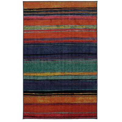 Goreville Blue/Red Area Rug Rug Size: Rectangle 76 x 10