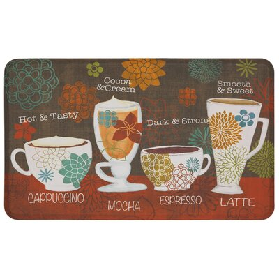 Gossman Tasty Coffee Words Dri- Pro Comfort Kitchen Mat