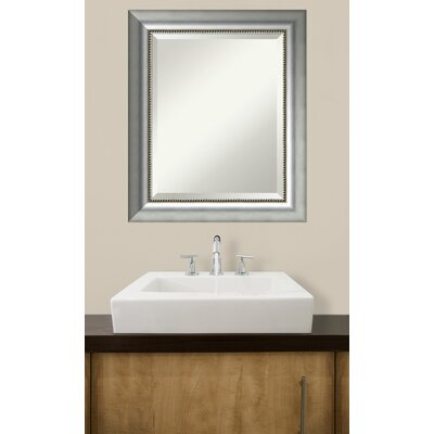 Rectangle Curved Silver Bathroom Wall Mirror Size: 24.88'' H x 20.88'' W