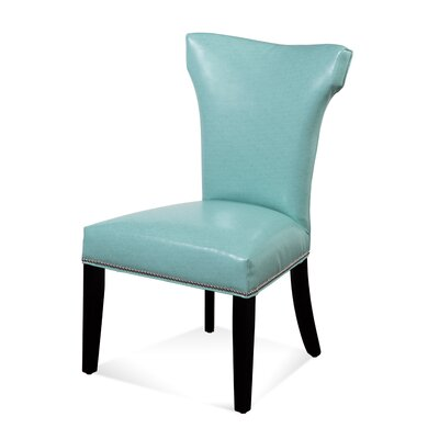 Nielsen Parson Chair (Set of 2) Upholstery: Turquoise