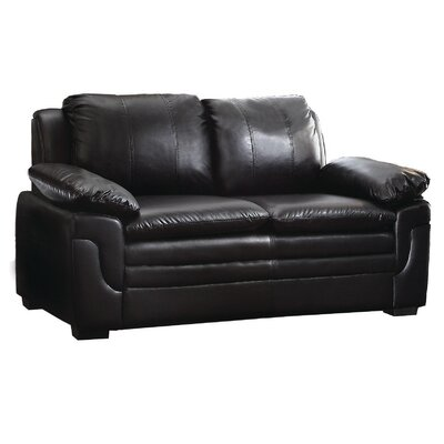 Chan Loveseat Upholstery: Black