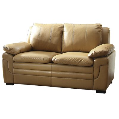 Chan Loveseat Upholstery: Tan