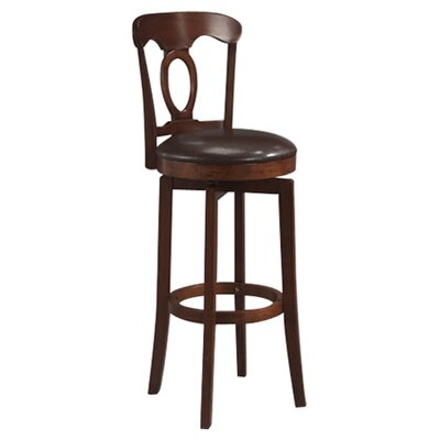 Cornerstone 25 inch Bar Stool with Cushion Finish: Brown