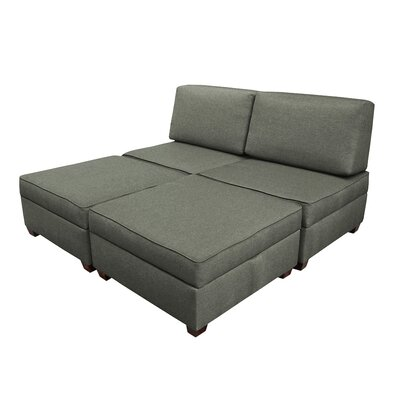 Attica Modular King Upholstered Bed Upholstery: Flint
