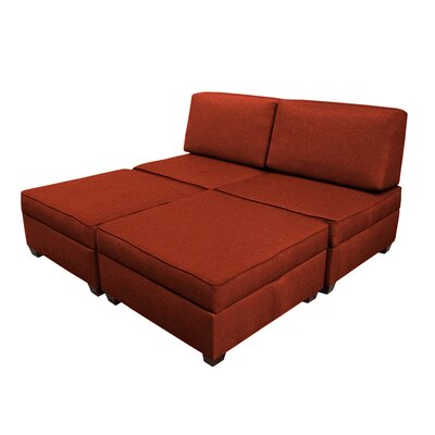 Attica Modular King Upholstered Bed Upholstery: Brick