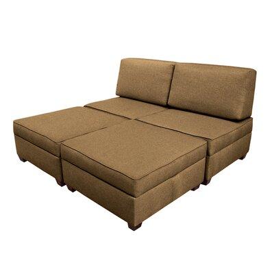 Attica Modular King Upholstered Bed Upholstery: Mocha