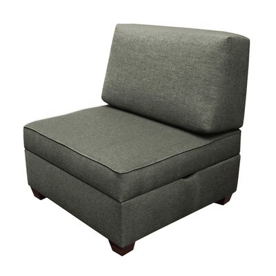 Attica Sit n Store Side Chair Upholstery: Flint