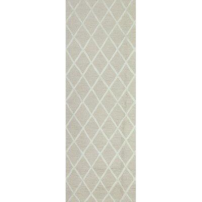 Alexander Hand-Tufted Ivory Area Rug Rug Size: Runner 26 x 8