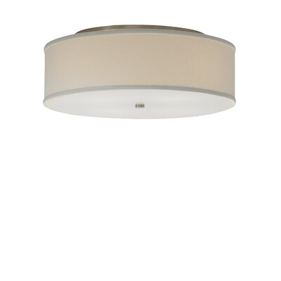 Jester Semi-Flush Mount Shade Color: White, Size: 6 H x 13 W x 13 D, Voltage: 120