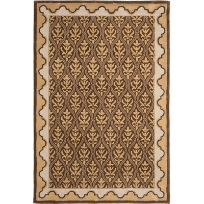 Greenacre Hand-Hooked Brown/Beige Area Rug