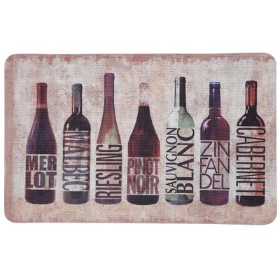 Gremillion All Wined Up Comfort Kitchen Mat