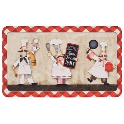 Gridley 3 Panel Chefs Comfort Kitchen Mat