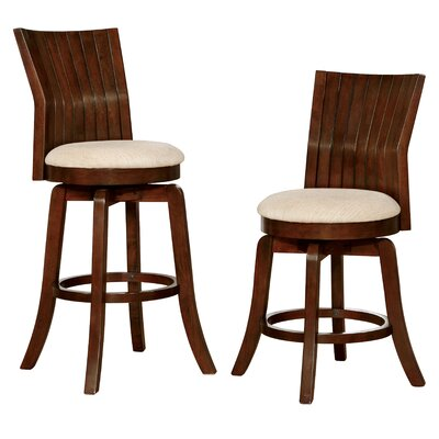Clare 29.25 Swivel Bar Stool with Cushion