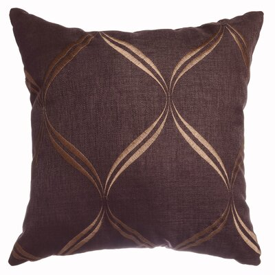 Pruitt Throw Pillow Color: Chocolate