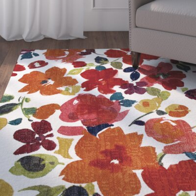 Channel Floral Multi-Printed Area Rug Rug Size: 5 x 8