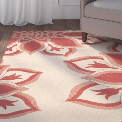 Liberty Red Area Rug Rug Size: 67 x 96