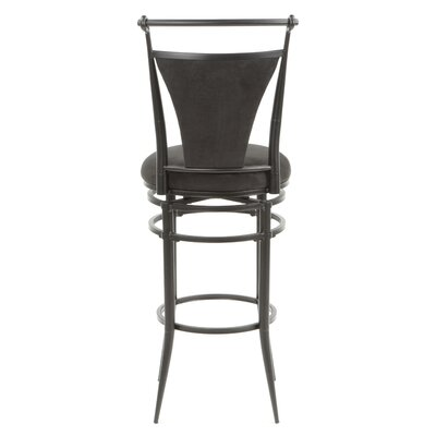 Tobar 30 Swivel Bar Stool Upholstery: Black