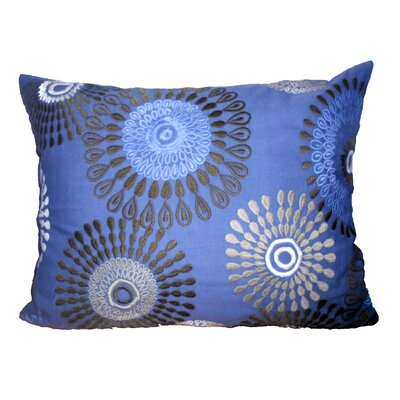Kempton Embroidered Throw Pillow Color: Blue