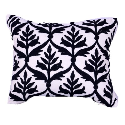 Kennelly Embroidered Lumbar Pillow Color: Ivory